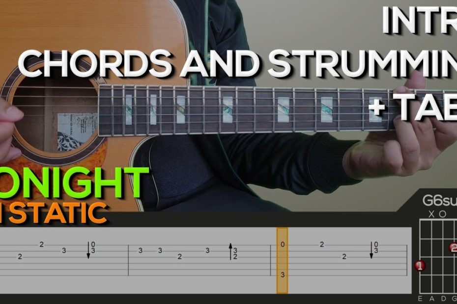 FM Static - Tonight Guitar Tutorial [INTRO, CHORDS AND STRUMMING + TABS]
