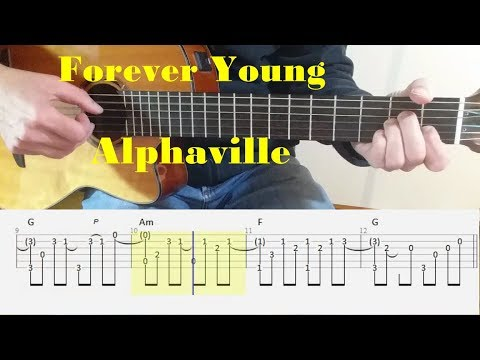 Forever Young - Alphaville- Fingerstyle guitar with tabs