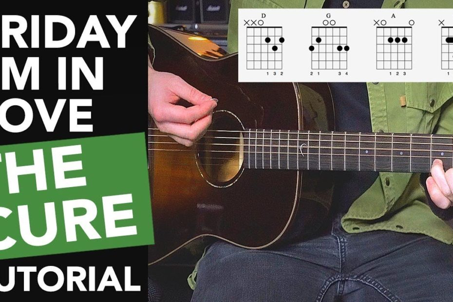'FRIDAY I'M IN LOVE' Acoustic Guitar Lesson Tutorial - The Cure - Easy Songs on Guitar