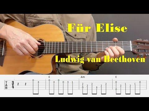 Für Elise - Ludwig van Beethoven - Fingerstyle guitar with tabs