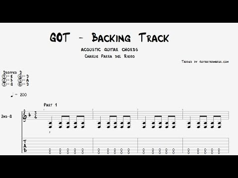 Game of Thrones theme backing track - acoustic rhythm guitar chords - PDF - Guitar Pro