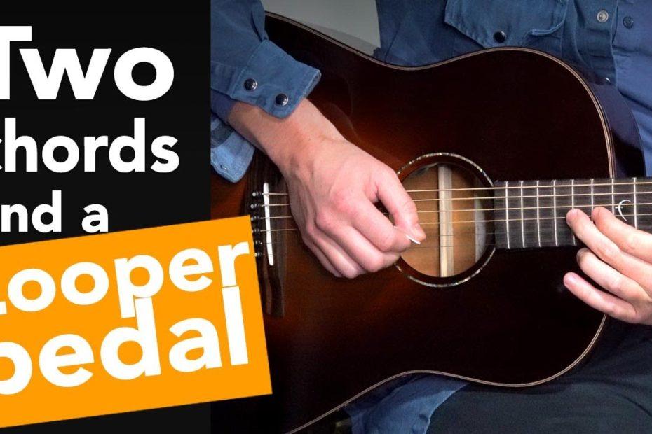 Gerry Cinnamon - 'Sometimes' Guitar Tutorial // 2 Chord Song + LOOPER Pedal (no capo)