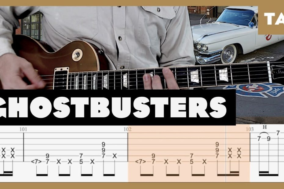 Ghostbusters Theme Ray Parker Jr. Cover | Guitar Tab | Lesson | Tutorial