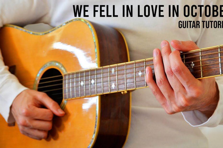 girl in red - we fell in love in october EASY Guitar Tutorial With Chords / Lyrics