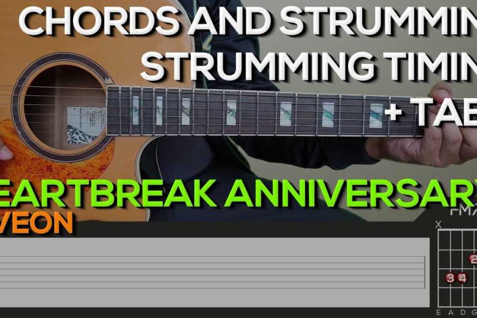 Giveon - Heartbreak Anniversary Guitar Tutorial [CHORDS AND STRUMMING + TABS]