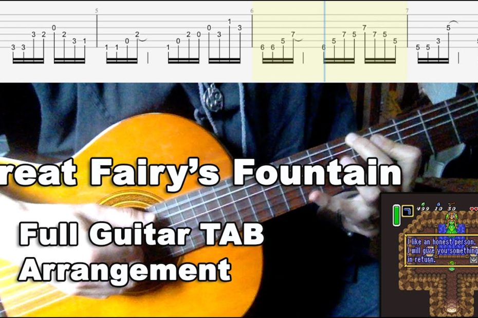 Great Fairy's Fountain - Full Guitar TAB Arrangement