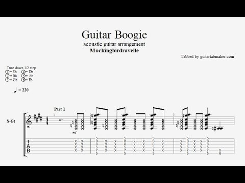 Guitar Boogie TAB (Mockingbirdravelle) - acoustic guitar solo tab (PDF + Guitar Pro)