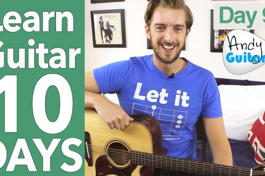 Guitar Lesson 9 - Open Chords And The Most Common Strumming EVER!