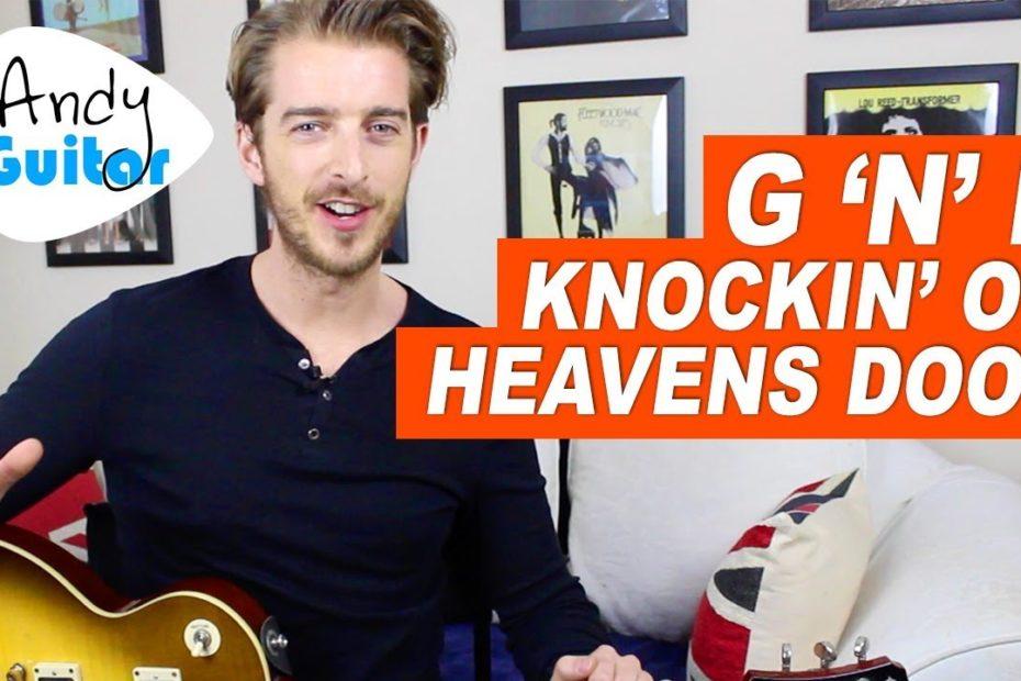 GUNS N' ROSES - KNOCKIN ON HEAVEN'S DOOR Guitar Tutorial (SLASH STYLE)