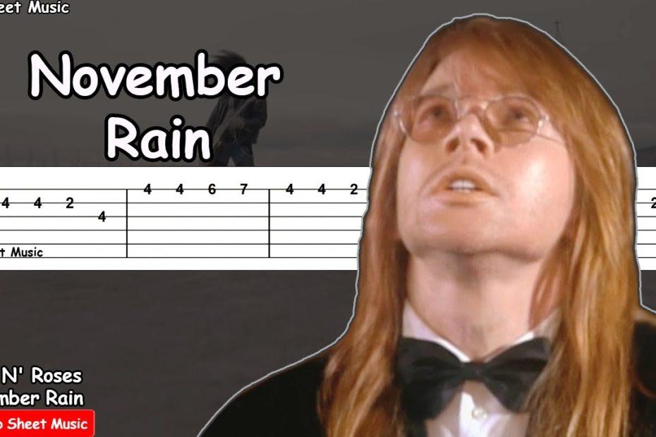 Guns N' Roses - November Rain Guitar Tutorial