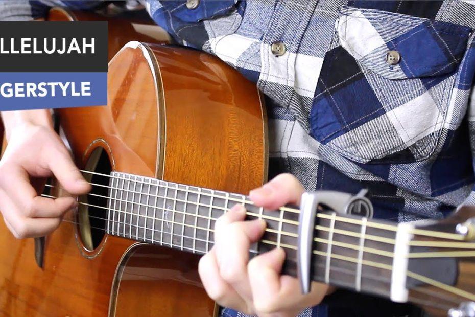 Hallelujah Guitar Tutorial EASY Fingerstyle - Jeff Buckley/ Leonard Cohen