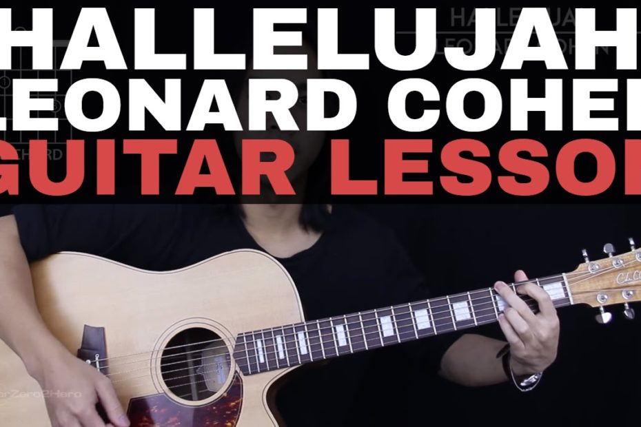 Hallelujah Guitar Tutorial - Leonard Cohen Guitar Lesson: Fingerpicking + Easy Chords + Guitar Cover