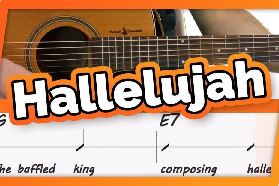 Hallelujah -Jeff Buckley - Play Along / Guitar Karaoke (Easy Chords)