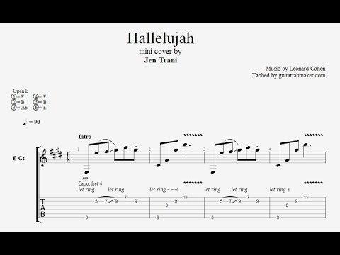 Hallelujah TAB - fingerpicking guitar tabs (PDF + Guitar Pro)