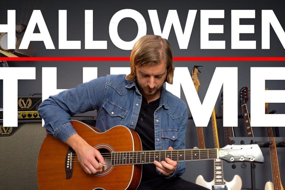 HALLOWEEN Movie Theme Guitar Lesson (John Carpenter) EASY Acoustic