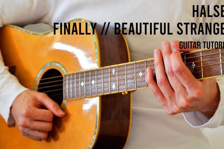 Halsey – Finally // beautiful stranger EASY Guitar Tutorial With Chords / Lyrics