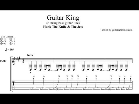 Hank the Knife and the Jets - Guitar King TAB - bass guitar solo tab - PDF - Guitar Pro