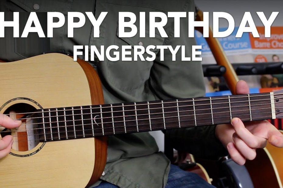 HAPPY BIRTHDAY - VERY EASY GUITAR TUTORIAL