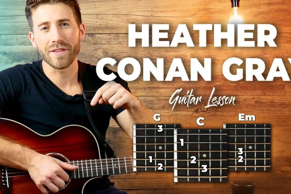 Heather Guitar Tutorial (EASY CHORDS) - Conan Gray Guitar Lesson