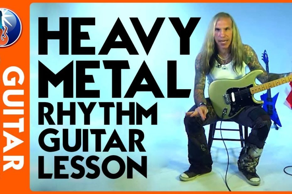 Heavy Metal Rhythm Guitar Lesson - Heavy Metal Triplet Picking Technique with Jack Frost