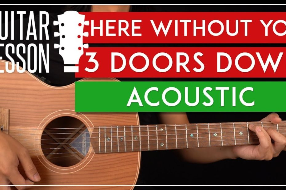 Here Without You Acoustic Guitar Tutorial   3 Doors Down Guitar Lesson |Easy Chords|