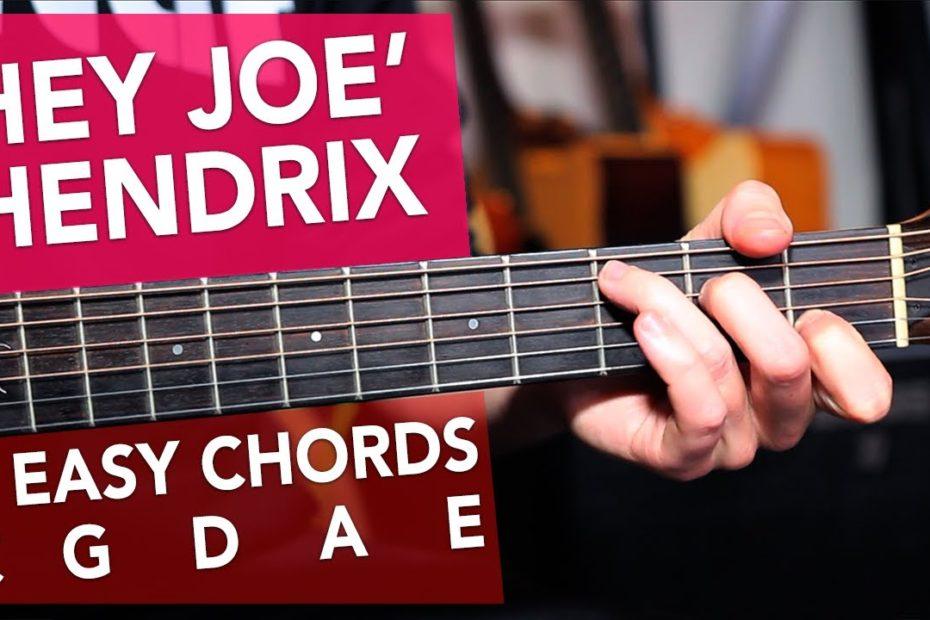 'HEY JOE' Very Easy Acoustic Lesson for Beginners - Jimi Hendrix made easy