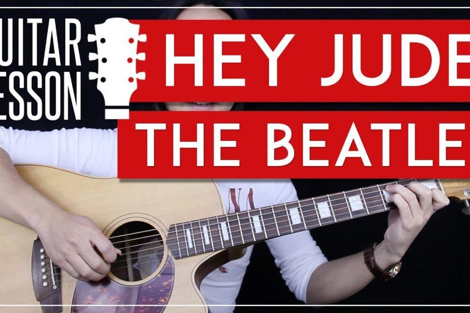 Hey Jude Guitar Tutorial - The Beatles Guitar Lesson  |No Capo + No Barre Chords + Guitar Cover|