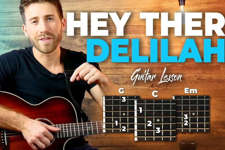 Hey There Delilah Guitar Tutorial (Plain White T's) Easy Chords Guitar Lesson
