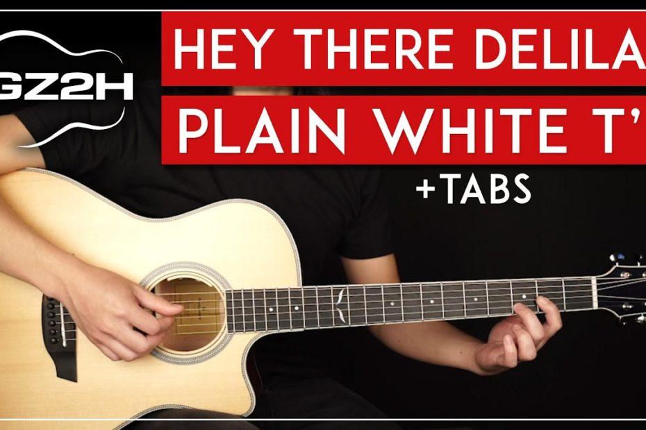 Hey There Delilah Guitar Tutorial Plain White T's Guitar Lesson  Easy Fingerpicking 