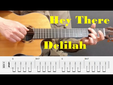 Hey There Delilah - Plain White T's - Fingerstyle guitar with tabs