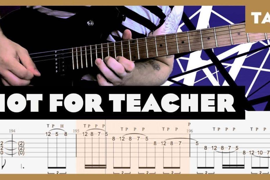 Hot for Teacher Van Halen Cover   Guitar Tab   Lesson   Tutorial