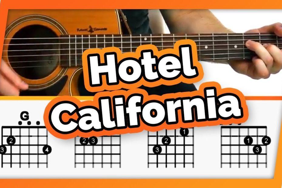 Hotel California Guitar Tutorial (The Eagles) Easy Chords Guitar Lesson