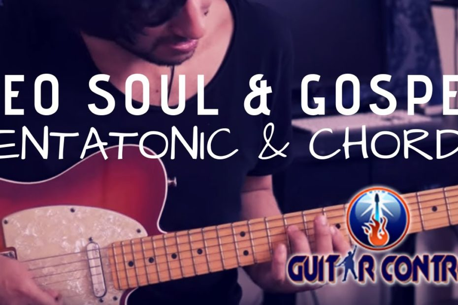 How To Mix Pentatonic Scales With Chords To Sound More Neo Soul & Gospel - Easy Rhythm Guitar Lesson