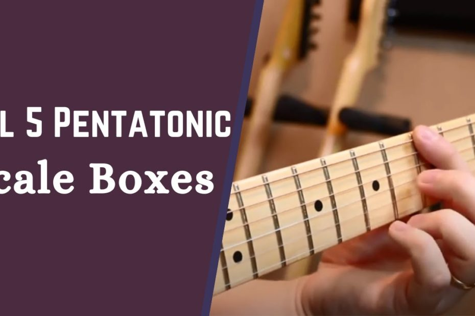 How To Play All 5 Pentatonic Scale Boxes - Lead Guitar Lesson on Scales w/ Robert Baker