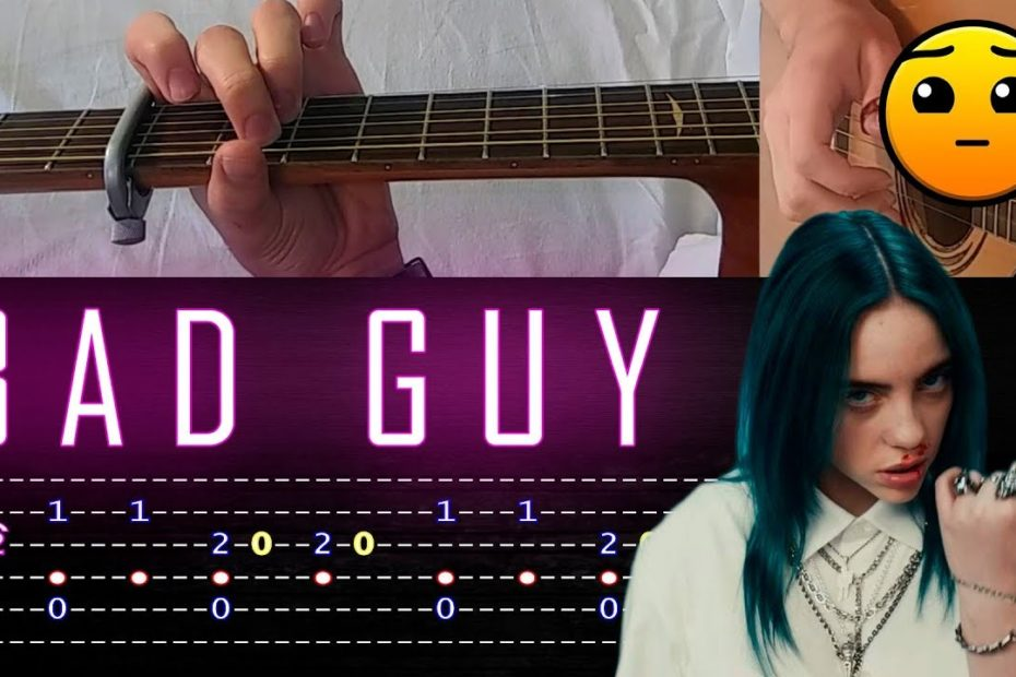 How to play 'Bad Guy (Billie Eilish)' Guitar Tutorial [TABS] Fingerstyle