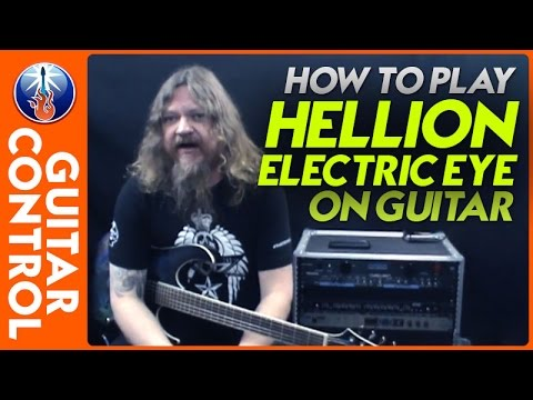 How to Play Hellion Electric Eye on Guitar - Judas Priest Guitar Lesson
