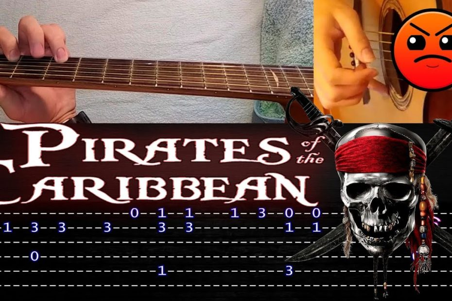 How to play 'Pirates of the Caribbean' Guitar Tutorial [TABS] Fingerstyle