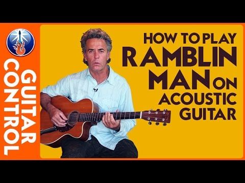 """How to Play """"Ramblin Man"""" by The Allman Brothers Band on Acoustic Guitar - Jimmy Dillon Easy Strum"""