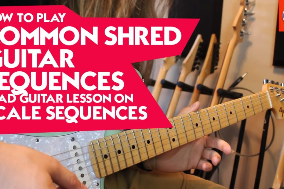 How to Play Shred Guitar Sequences - Lead Guitar Lesson on Scale Sequences