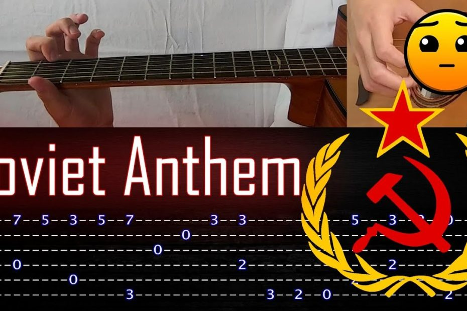 How to play 'Soviet Anthem' Guitar Tutorial [TABS] Fingerstyle