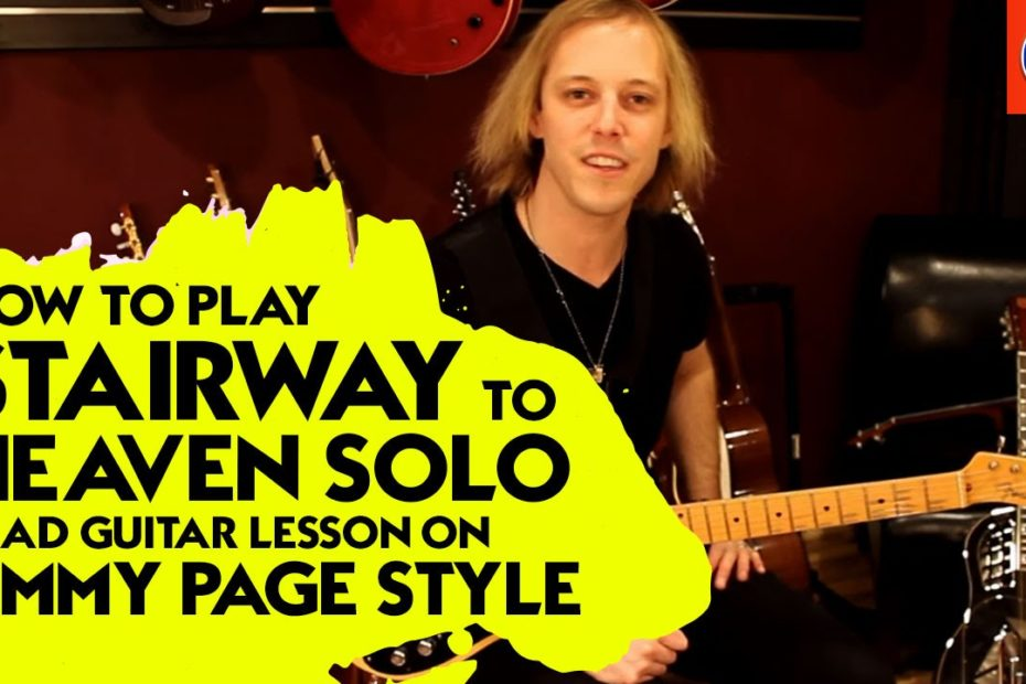 How to Play Stairway to Heaven Solo - Lead Guitar Lesson on Jimmy Page Style
