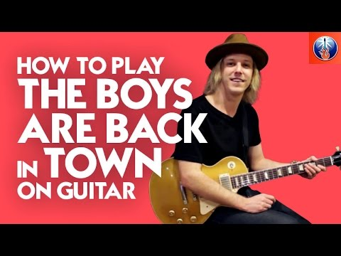 How to Play The Boys Are back in Town on Guitar - Thin Lizzy Song Lesson