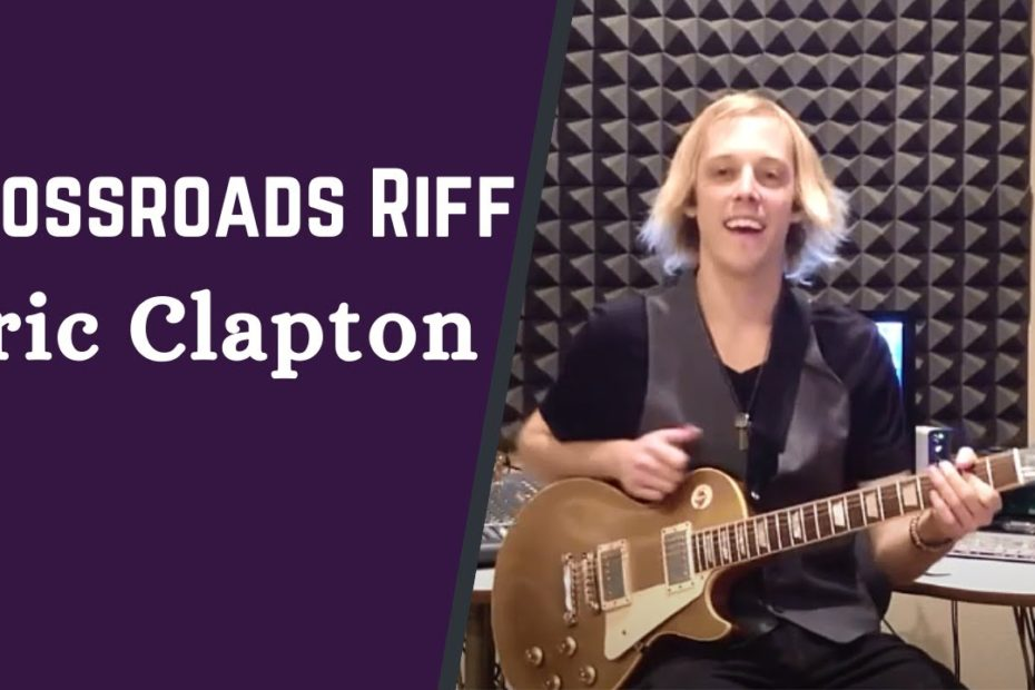 How to Play the Guitar Riff From Eric Clapton´s Crossroads - Blues Guitar Lesson w/ Jon Maclennan