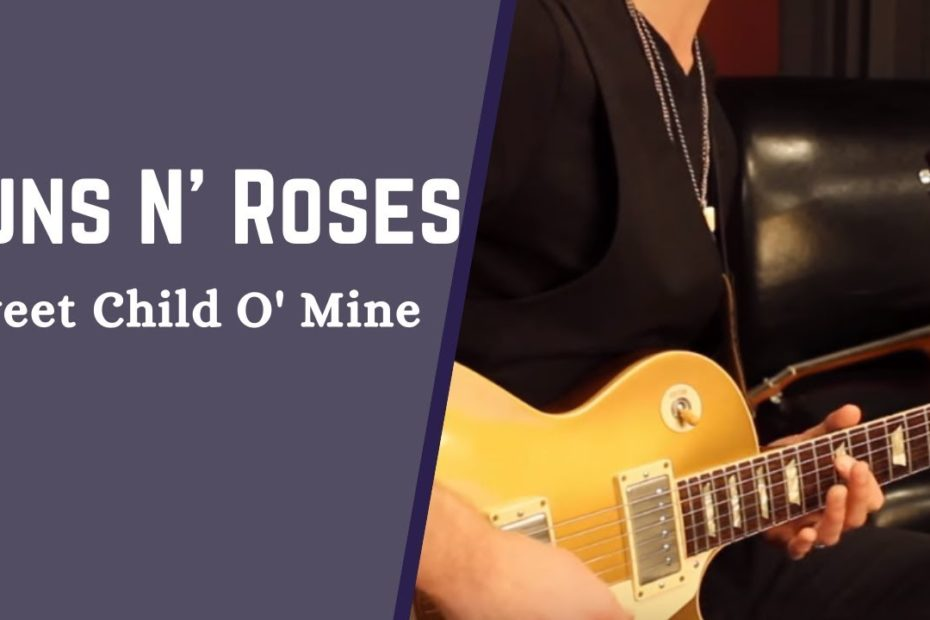 """How To Play the Intro From """"Sweet Child O' Mine"""" By Guns N' Roses - Easy Guitar Lesson"""