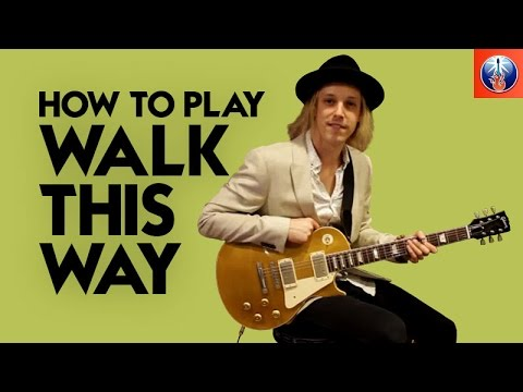 How to Play Walk This Way - Aerosmith Joe Perry Guitar Lesson