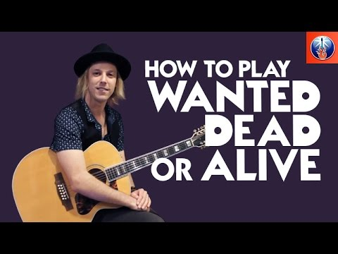 How to Play Wanted Dead or Alive On Acoustic Guitar - Bon Jovi Song Lesson