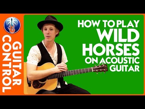 How to Play Wild Horses on Acoustic Guitar: Rolling Stones Lesson | Guitar Control