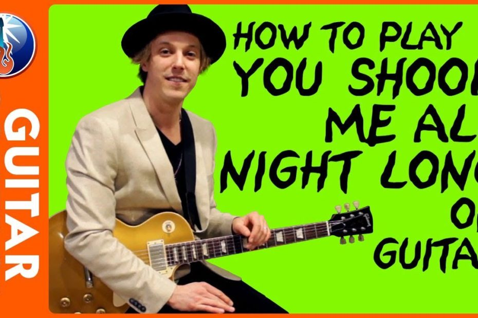 How to Play You Shook Me all Night Long on Guitar - AC DC Back in Black Lesson