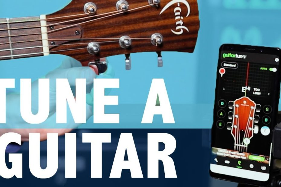 How To Tune A Guitar with a FREE APP