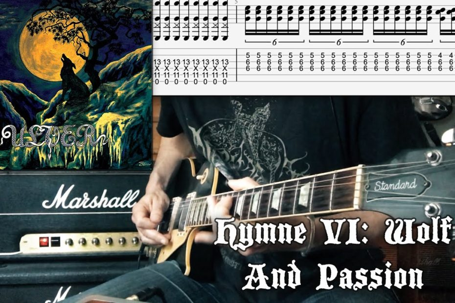 Hymne VI: Wolf And Passion - Ulver (Riff Cover Tab Tutorial)